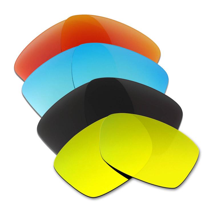 053e472ef8 Hkuco Mens Replacement Lenses For Oakley Jupiter Squared Red Blue Black 24K  Gold Sunglasses