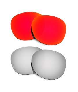 Hkuco Mens Replacement Lenses For Oakley Latch Red/Titanium Sunglasses