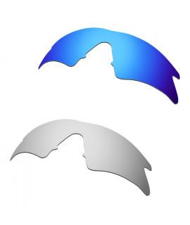 Hkuco Mens Replacement Lenses For Oakley M Frame Sweep Blue/Titanium Sunglasses