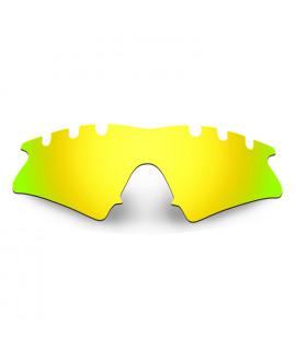 HKUCO Mens Replacement Lenses For Oakley M Frame Sweep Vented Blue/Titanium/Emerald Green Sunglasses igLHdZj