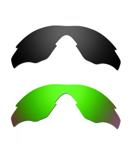 62c57aa77f Hkuco Mens Replacement Lenses For Oakley M2 Black Emerald Green Sunglasses