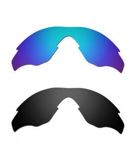 Hkuco Mens Replacement Lenses For Oakley M2 Sunglasses Blue/Black Polarized