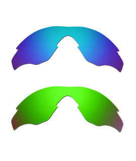 Hkuco Mens Replacement Lenses For Oakley M2 Blue/Green Sunglasses