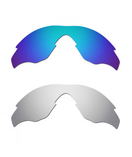 Hkuco Mens Replacement Lenses For Oakley M2 Blue/Titanium Sunglasses