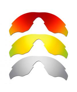 59b9c4491e Hkuco Mens Replacement Lenses For Oakley M2 Red 24K Gold Titanium Sunglasses