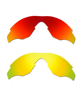 Hkuco Mens Replacement Lenses For Oakley M2 Red/24K Gold Sunglasses