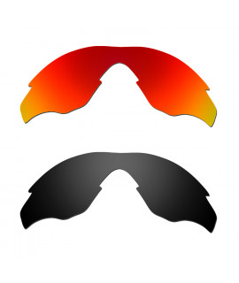 Hkuco Mens Replacement Lenses For Oakley M2 Red/Black Sunglasses