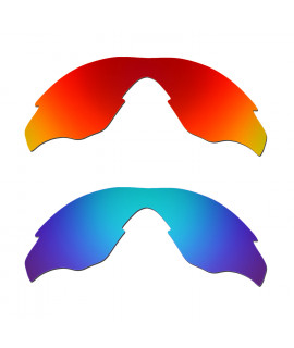 Hkuco Mens Replacement Lenses For Oakley M2 Red/Blue Sunglasses
