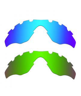 Hkuco Mens Replacement Lenses For Oakley M2-Vented Blue/Green Sunglasses