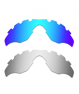 Hkuco Mens Replacement Lenses For Oakley M2-Vented Blue/Titanium Sunglasses