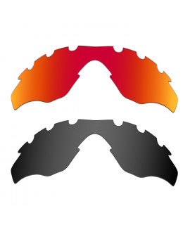 Hkuco Mens Replacement Lenses For Oakley M2-Vented Red/Black Sunglasses