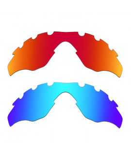 Hkuco Mens Replacement Lenses For Oakley M2-Vented Red/Blue Sunglasses