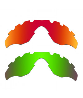 Hkuco Mens Replacement Lenses For Oakley M2-Vented Red/Emerald Green Sunglasses
