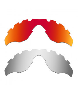 Hkuco Mens Replacement Lenses For Oakley M2-Vented Red/Titanium Sunglasses