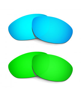 Hkuco Mens Replacement Lenses For Oakley Monster Dog Blue/Green Sunglasses
