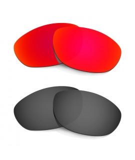 Hkuco Mens Replacement Lenses For Oakley Monster Dog Red/Black Sunglasses