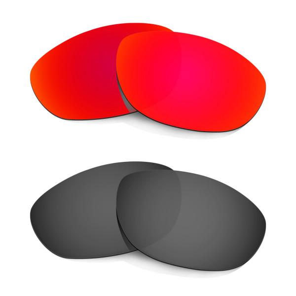 Hkuco Mens Replacement Lenses For Oakley Monster Dog Red/Black Sunglasses
