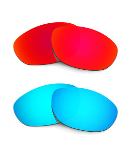 Hkuco Mens Replacement Lenses For Oakley Monster Dog Red/Blue Sunglasses