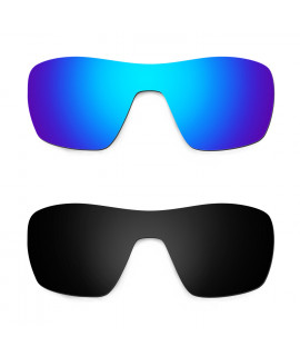 HKUCO Blue+Black Replacement Lenses For Oakley Offshoot Sunglasses