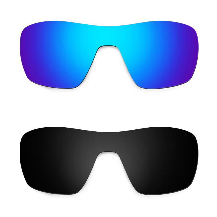 f30df3736ac HKUCO Blue+Black Replacement Lenses For Oakley Offshoot Sunglasses
