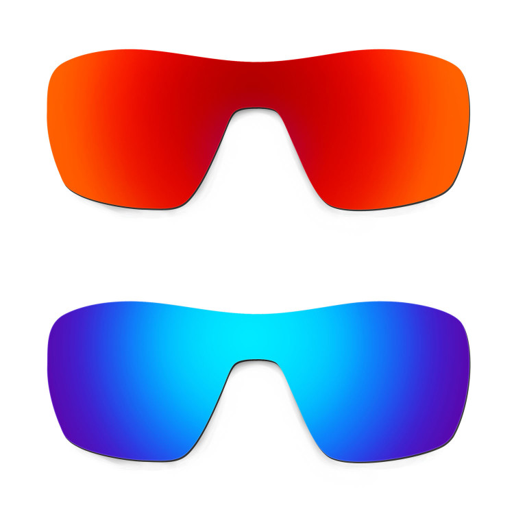 6744c4c1e43 HKUCO Red+Blue Replacement Lenses For Oakley Offshoot Sunglasses