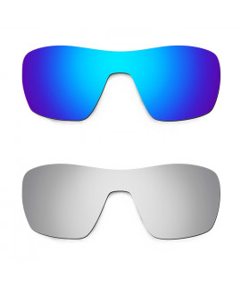 Hkuco Mens Replacement Lenses For Oakley Offshoot Blue/Titanium Sunglasses