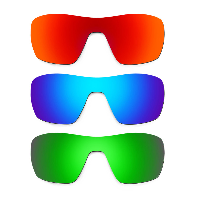 6c5721130f9 Hkuco Mens Replacement Lenses For Oakley Offshoot Red Blue Emerald Green  Sunglasses