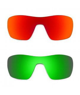Hkuco Mens Replacement Lenses For Oakley Offshoot Red/Emerald Green Sunglasses