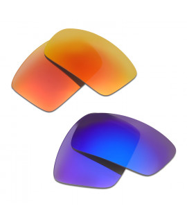 HKUCO Red+Blue Polarized Replacement Lenses For Oakley Oil Drum Sunglasses