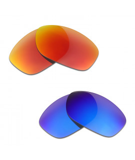 HKUCO Red+Blue Polarized Replacement Lenses For Oakley Pit Bull Sunglasses