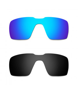 Hkuco Mens Replacement Lenses For Oakley Probation Sunglasses Blue/Black Polarized