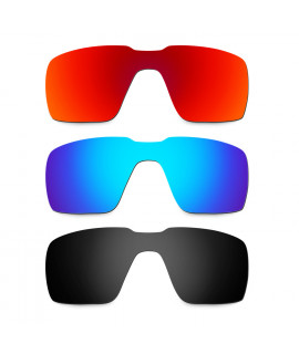 Hkuco Mens Replacement Lenses For Oakley Probation Red/Blue/Black Sunglasses
