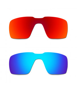 Hkuco Mens Replacement Lenses For Oakley Probation Red/Blue Sunglasses