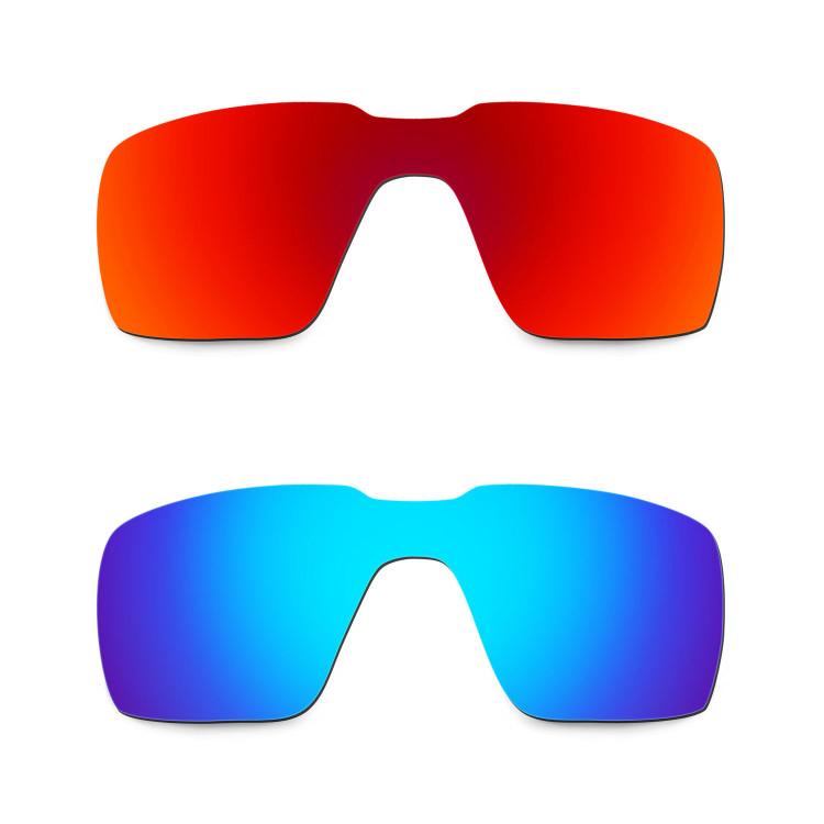 842b0b912c8 Hkuco Mens Replacement Lenses For Oakley Probation Red Blue Sunglasses