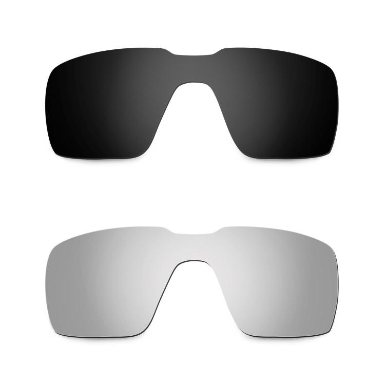 3d1e6346d99a1 Hkuco Mens Replacement Lenses For Oakley Probation Black Titanium Sunglasses