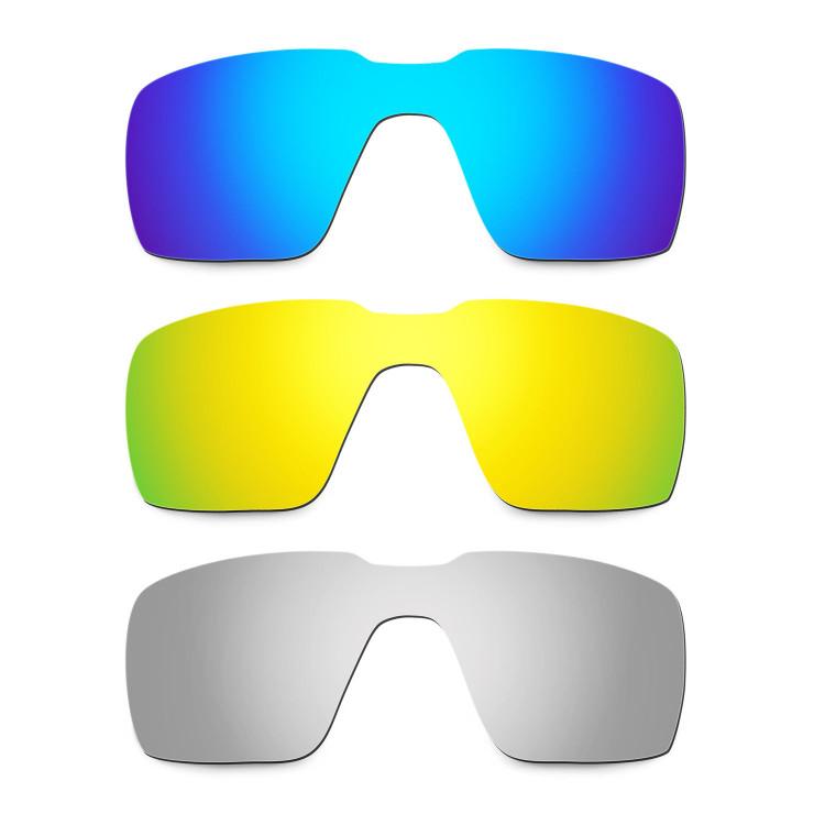 0cdd81f21cbd3 Hkuco Mens Replacement Lenses For Oakley Probation Blue 24K Gold Titanium  Sunglasses