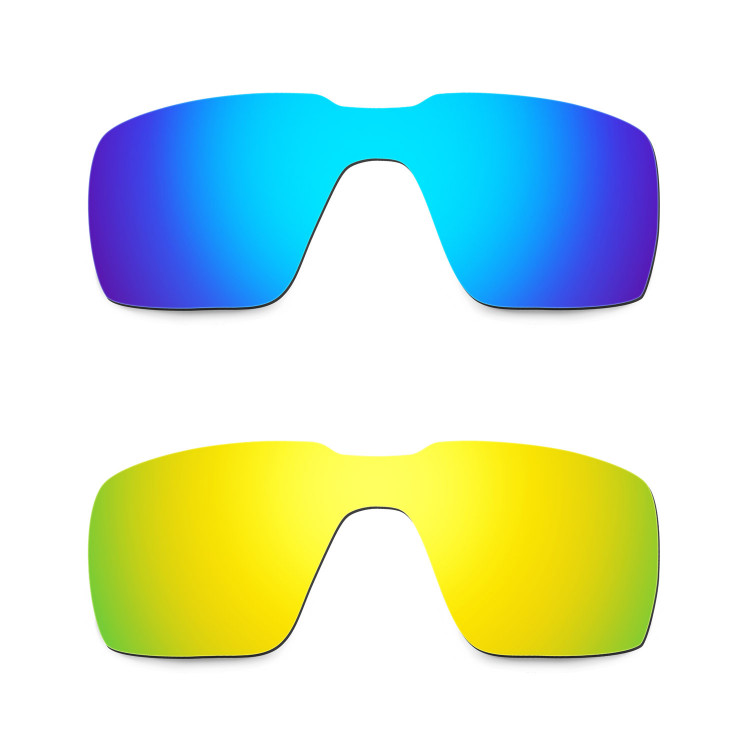 bde15a9debbbc Hkuco Mens Replacement Lenses For Oakley Probation Blue 24K Gold Sunglasses