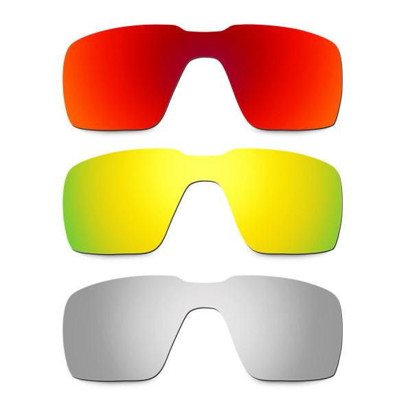 4784495ddf30b Hkuco Mens Replacement Lenses For Oakley Probation Red 24K Gold Titanium  Sunglasses