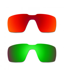 Hkuco Mens Replacement Lenses For Oakley Probation Red/Emerald Green Sunglasses