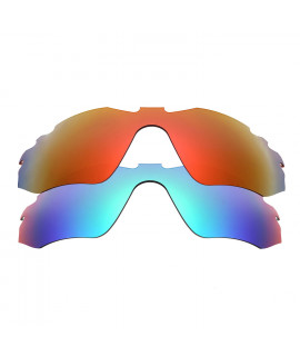 HKUCO Red+Blue Polarized Replacement Lenses For Oakley Radar Edge Sunglasses