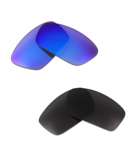 HKUCO Blue+Black Polarized Replacement Lenses For Oakley Split Jacket Sunglasses