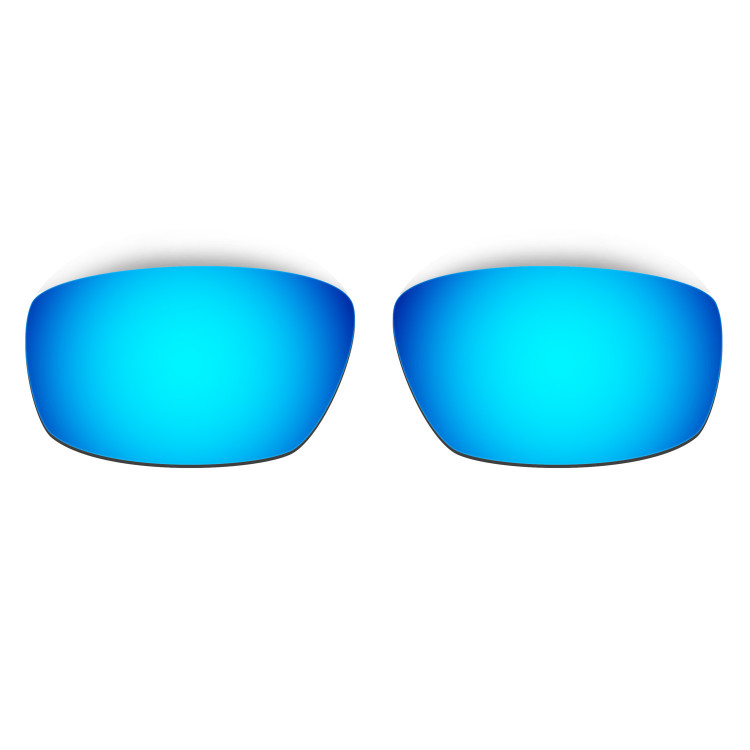 HKUCO Mens Replacement Lenses For Oakley Splinter Blue/24K Gold Sunglasses NMAm36