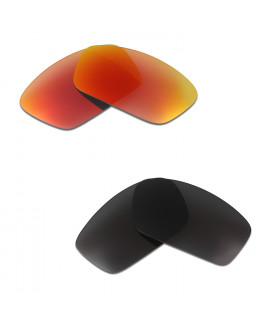 HKUCO Red+Black Polarized Replacement Lenses For Oakley Split Jacket Sunglasses