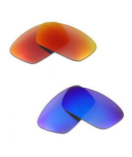 HKUCO Red+Blue Polarized Replacement Lenses For Oakley Split Jacket Sunglasses
