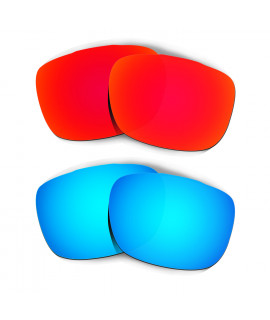 HKUCO Red+Blue Replacement Lenses For Oakley TwoFace Sunglasses