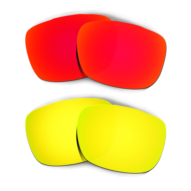b6cac033edcf3 Hkuco Mens Replacement Lenses For Oakley TwoFace Red 24K Gold Sunglasses