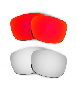Hkuco Mens Replacement Lenses For Oakley TwoFace Red/Titanium Sunglasses