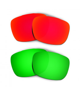 Hkuco Mens Replacement Lenses For Oakley TwoFace Red/Emerald Green Sunglasses