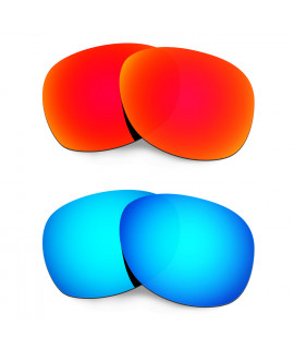 Hkuco Mens Replacement Lenses For Ray-Ban Wayfarer RB2132 55mm Red/Blue Sunglasses