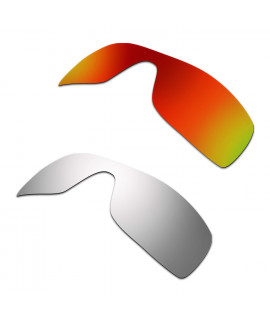 Hkuco Mens Replacement Lenses For Oakley Batwolf Red/Titanium Sunglasses
